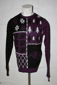 NWT Baltimore Ravens Ugly Christmas Sweater Sz L Large NICE WOW