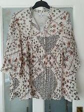River Island Floral Pleated Blouse Plus Size 24