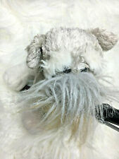 "Ganz Webkinz 8"" Schnauzer Dog Plush Stuffed Animal"