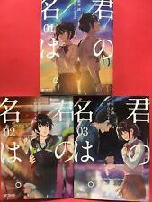 Your name. Kimi no na wa Vol. 1 2 3 complete Lot Japanese Original Manga Japan