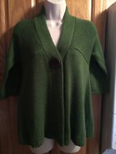 Autumn Cashmere-S, 30% Cashmere, One Button Sweater, Green, SOFT !