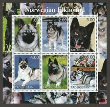 Norwegian Elkhound * Int'l Dog Postage Stamp Collection * Great Gift Idea *