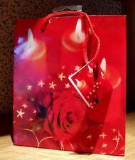 Geschenktüte -tasche- Kerzen mit Rose - Motiv 21 X18 X 8 Cm