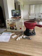 Vintage Le Creuset Red 6024 Fondue in Box PLEASE READ