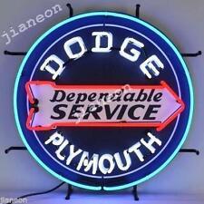 """24""""x24"""" RARE Dodge Plymouth Dependable Service CHRYSLER MOPAR Neon Sign Light"""