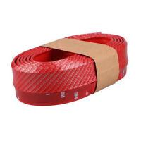 2.5M Red Car Front Bumper Carbon Fiber Lip Splitter Chin Spoiler Body Kit Trim