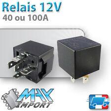 Relais 12V - 40 ou 100A - 5 broches - normalement ouvert / fermé