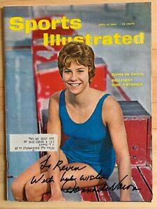Donna de Varona Autographed Signed Sports Illustrated 4/16/62 Olympic Gold Medal