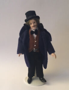 Dolls House Man wearing Top Hat - 16 cm