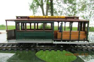 Powell & Mason St Cable Car HO Scale San Francisco Municipal Railway w/Conductor