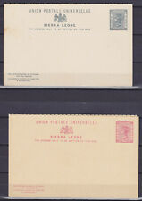 SIERRA LEONE 1880th, 4 MINT STATIONERY CARDS, 2 DOUBLE ONES