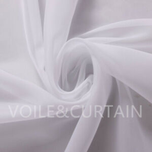 White Voile Fabric by the meter 150,210 and 300cm Wedding Event Ceiling Drapes
