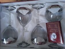 VINTAGE CHISTALLERIA  FRATELLI  FUMO HAND DECORATED DRINKWARE SET OF 4  ITALY 8
