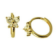 14K Yellow Gold Butterfly CZ Huggies Earrings for Baby and Children