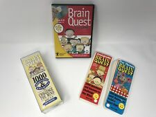 Brain Quest DVD Game Brighter Minds Educational Play On TV - 3 Sets Of Cards Lot