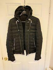 Balmain Down Hooded Biker Jacket - Men Black Size L