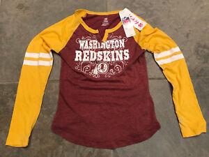NFL Teens Team Apparel Washington Redskins Red Tshirt size Girls Large 10/12 NWT