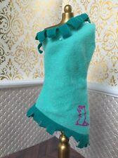 Pocahontas Teal Green Buckskin Dress Fringe Disney Doll Barbie Native Meeko