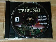 The Elder Scrolls III Tribunal Morrowind Expansion PC CD-ROM Bethesda Windows XP