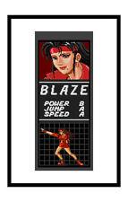 Encadrée Imprimer-Sega Mega Drive Jeu Poster – Streets of Rage Blaze (photo art)