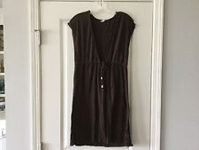 Women's Beach Coverup Brown Swimsuit Bathing Suit Cover Size Small