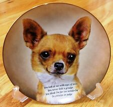Danbury Mint Chihuahua EYES OF LOVE Collector Plate MINT