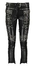 Joseph  Black Leather Studded Trousers Size UK 10 RRP £1600