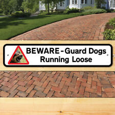 Guard Dog Sign, BEWARE DOGS SIGN Robust Gate Sign, DOGS- Keep Out Sign