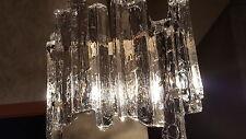 Fischer Germany Ice Glass Chandelier Kronleuchter Lampe Kalmar Ära Eis Glas