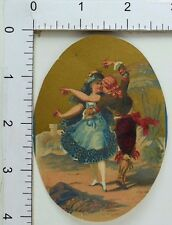 Victorian Scrap Trade Card Shepard Norwell & Co Spanish Dancers Tango F73
