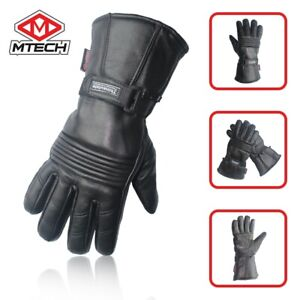 MTECH Motorbike Full Leather Gloves Water Proof Motorcycle Warm Winter Gloves