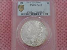 NEW SPECIAL LABEL!  1889-P Morgan Silver Dollar, PCGS MS-64!