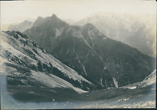 France, Alpes, Pic de Guillestre    Vintage silver print Tirage argentique