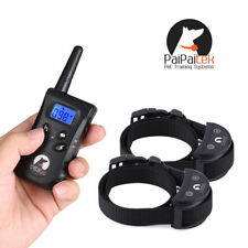 2 Dogs PaiPaitek Dog Training Collar 500M Remote Rechargeable Waterproof Shock