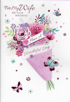 X7 ISABELS GARDEN ON YOUR RUBY ANNIVERSARY CARD***CARDS**3D HANDMADE**CHOICE OF