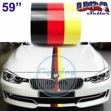 "59"" Germany Flag Stripe Vinyl Decoration Hood Body Sticker For Audi Mercedes"