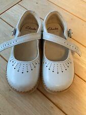 Girls Toddler Clarks Leather Shoes Size Uk Infant 8 Baby Blue