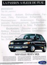 Publicité Advertising 1989 Ford Fiesta XR2i