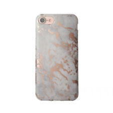 Chrome Metallic Rose Gold Marble Phone Case for iPhone 6 6s 7 8 X Soft Tpu Case