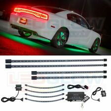 LEDGlow Green LED Neon Underglow Underbody Light Kit w 4pc Wheel Well Fender Kit