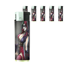 Bad Girl Pin Up D15 Lighters Set of 5 Electronic Refillable Butane