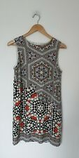 WAREHOUSE QUIRKY MOROCCAN PRINT SHEATH DRESS SIZE 12