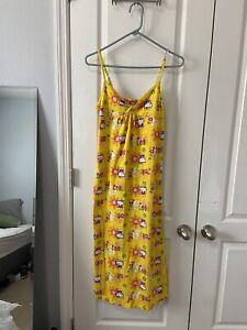 Hello Kitty Size M Nightgown Cotton Long Midi sleep dress sanrio anime y2k 00s