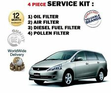 FOR MITSUBISHI GRANDIS 2.0DT DiD 2005--> OIL AIR FUEL POLLEN FILTERS ( 4 ) KIT