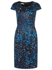 PRECIS PETITE BLUE/BLACK STUNNING SHIMMER DRESS BNWT rrp £139 SIZE 14BARGAIN !!