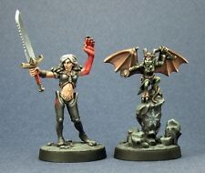 Nualia and Erylium Reaper Miniatures Pathfinder RPG Demon Fighter Melee Familiar