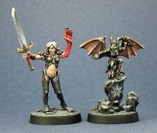 Nualia and Erylium Reaper Miniatures Pathfinder RPG Demon Fighter Melee Familiar