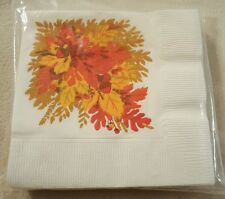 Lot of 14 vintage Fall Autumn paper cocktail napkins by Hallmark collectible