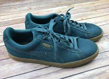 PUMA Suede Mens Sz 12 Classic Green Oxblood Sneaker's Shoes Gum