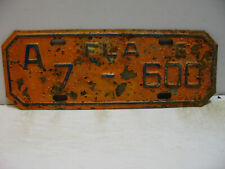 1964 Florida MOTORCYCLE License Plate    A 7 - 600        Vintage  as5161